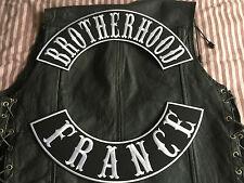 Brotherhood France Patch Banner XL Set je 39x8,7 cm Biker Kutte MC ohne Kutte