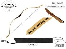 50lb Ali Bow Handmade Hungarian Black Longbow  Archery Hunting Recurve Bow