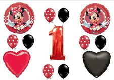 Mad About Minnie Mouse Red 1st First BIRTHDAY BALLOONS Decorations Dots