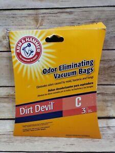 3 Arm and Hammer Odor Eliminating Vacuum Bags Dirt Devil C