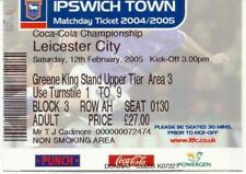 Ticket - Ipswich Town v Leicester City 12.02.05