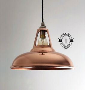 Cawston ~ Solid Copper Coolicon Industrial Shade 1933 Design **Factory Second**