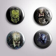 4 PREDATOR -  Pinbacks Badge Button 25mm 1''..