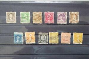 1932 U.S. Stamps WASHINGTON BICENTENNIAL. SC# 704-715 Complete Set. Used