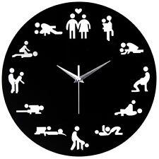 SEX POSITION Horloge Moderne Nouveauté Horloge murale pour mariage amant Sexual culture