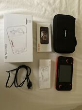 Anbernic RG350 Black and Orange Handheld Game Console w/Case Excellent Condition
