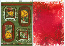 My Paper Stash Foiled Christmas Toppers & A4 Backing Card- Beautiful Bells AC198