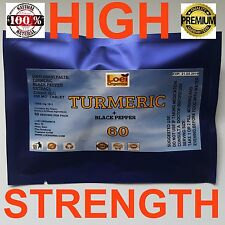 TURMERIC HIGH STRENGTH 10:1 EXTRACT WITH BLACK PEPPER CURCUMA LONGA 60 PILL
