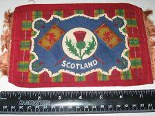 "SCOTLAND Vintage c.1910 TOBACCO FELT/FLAG - Measure 5x7"""