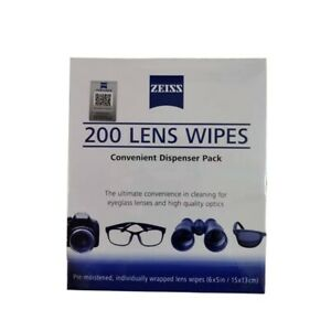 Zeiss 200 Cleaning Lens Wipes Eye Glasses Computer Optical Camera Cleaner Wipes