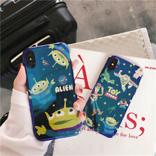 Cute cartoon Toy Story Alien laser Sparkle case Cover for iPhone X 8 7 6 6S Plus
