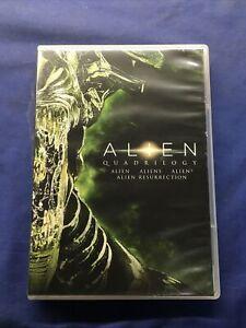 Alien Quadrilogy - Alien, Aliens, Alien 3, Ressurrection (DVD, 4-film)