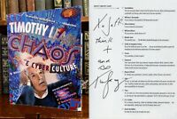 Chaos and Cyber Culture HAND SIGNED by Timothy Leary! Psychedelic Drug Icon RARE