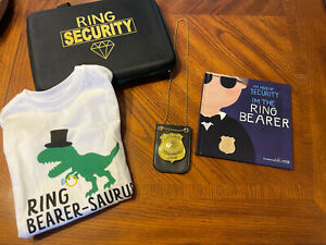 Ring Bearer Ring Security Lot W/ 4T Shirt, Badge, Book And Case Great Condition!
