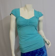 Sourpuss Girls Top Vixen Teal SPTOP33 Shirt Bluse Damen türkis blau grün Gr. M