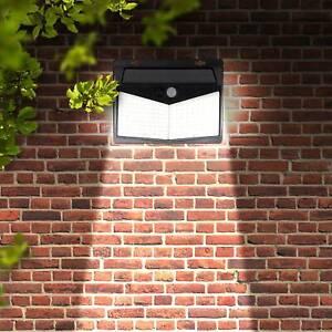 208 LED Solar Powered PIR Motion Sensor Light Garden Outdoor Security Wall Light