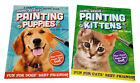 Paint with Water Books Kittens and Puppies Animal Rescue Book Gift Set of 2 NEW