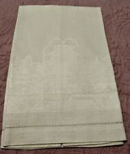 "Gorgeous Heavy Damask Linen Hemstitched Hand Towel 22""x14"""