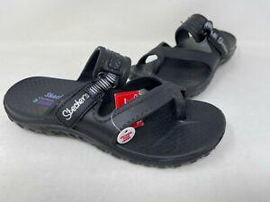 NEW! Skechers Women's Foamies Reggae Clearwater Sandals Black #111150 200H tz
