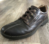 Ecco Men's Size 12 Shoes Sneaker Walking Comfort Shock Point Brown Leather