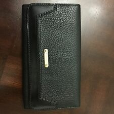 Authentic Burberry London Grainy Leather Black Continental Wallet