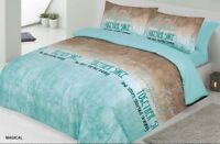 Duvet Cover Set, Quilted Cover,  Bedding Set With Pillow Cases & Fitted Sheet