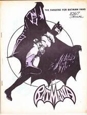 BATMANIA 1967 ANNUAL - Batman fanzine - Biljo White - Letter from BOB KANE!