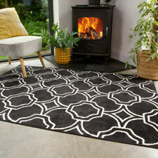 Black Trellis Area Rug Small Large Rugs For Living Room Moroccan Hall Runners