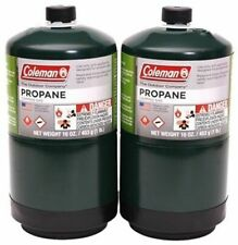 COLEMAN 2 Pk Propane Fuel Cylinder 16 oz Camping FULL NEW fast free shipping!