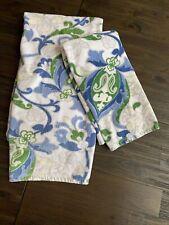 POTTERY BARN Organic Cotton Paisley Floral SET BATH & HAND TOWEL