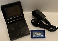 Nintendo Game Boy Advance SP Handheld Console With Pokemon Sapphire Tested