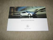Mercedes C-Klasse Sportcoupe (CL203) Prospekt Brochure von 2/2001, 56 Seiten