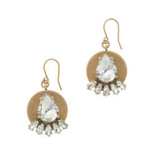 J.Crew Golden Plate & Crystal Earrings