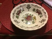 """Bouquet By Francisan Staffordshire England  3 Bowls 6.50"""" Diameter"""