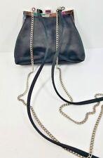 Liz Clairborne Evening Bag Purse Black 2 Convertible Crossbody Shoulder Straps