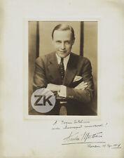 ANDRE MATTONI Acteur Autrichien Lang Metropolis BERLIN Autographe Photo 1927
