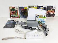 Nintendo RVL-001(USA) Wii White Gamecube Game Compatible Console + 6  Games
