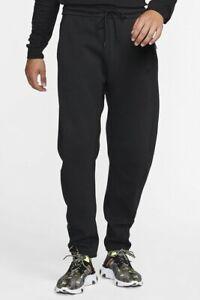 NIKE TECH FLEECE Zipped Pocket TROUSERS MEN'S Size L Black
