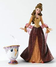 Disney Showcase Haute Couture Christmas Belle with Chip Figurine 20cm 4053349
