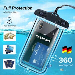 Wasserdichte Unterwasser Tasche Handytasche Schutz Hülle Case Cover Leuchtend DE