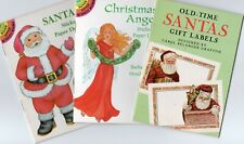 3 Dover Little Activity Books Sticker Paper Doll & Old-Time Santas Gift Labels