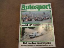 Autosport 8 June 1978 Acropolis Rally Indy 500 Fiat Ritmo Vallelunga F2