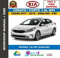 Workshop Manual Kia Cerato Forte 1.6L MPI 2017-2018. Includes Wiring Diagrams