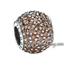 Authentic Pandora Pavé Lights 791051BCZ Brown CZ Charm