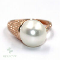 11-12mm Natural White Baroque Pearl ring Adjustable 18k Mesmerizing Gorgeous