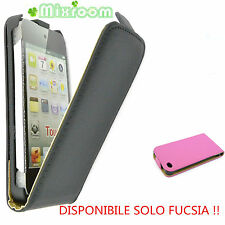 Custodia Cover FLIP Case per Apple iPod Touch 4 4G FUCSIA + PELLICOLA