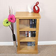 Oak Bookcase Fixed Shelves Books Dvd Cd Storage Solid Oak