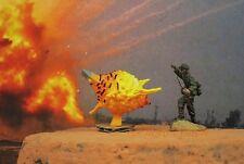 PAINTED DIORAMA GRENADE MINE BOMB FIRE EXPLOSION BATTLE WAR FIGURE MODEL 72_AD2
