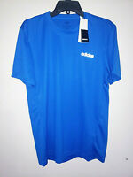 Mens Adidas Climalite Short Sleeve Blue T-Shirt Athletic New NWT Size Medium M