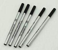 10 PCS Duke Black Ink Rollerball Pen Refills , Push Type , Fine Point , 103 mm
